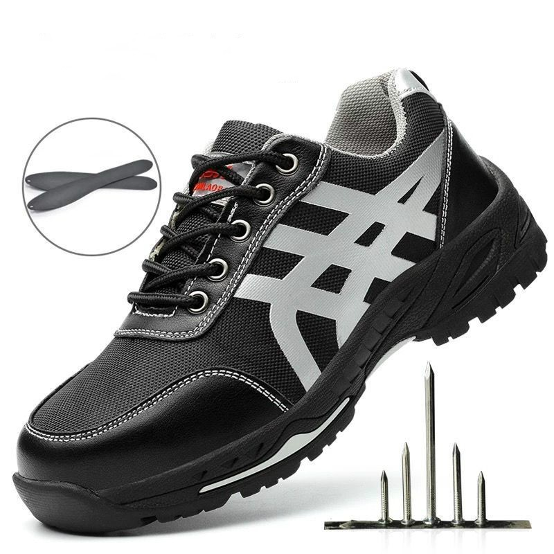 b38d9cb5e7c Men Safety Shoes Fashion Breathable Steel Toe Work Boots Hiking Climbing  Shoes