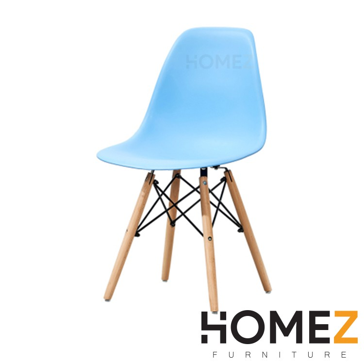 Homez Eames Lounge Chair HMZ-DC-A304B Dining Chair c/w Dowel Wood Eiffel Legs / Kerusi Makan / Kerusi Pejabat