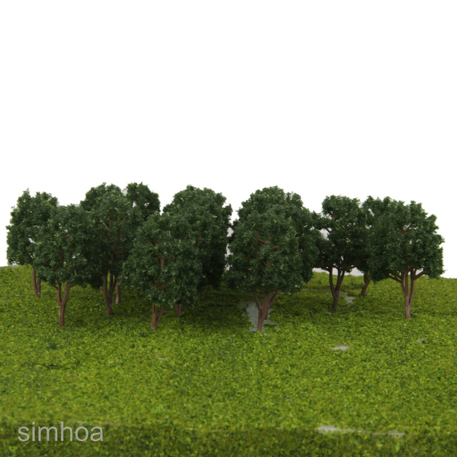 20x Model Tree Train Railway Forest Scenery Layout N Scale Dark//Light Green