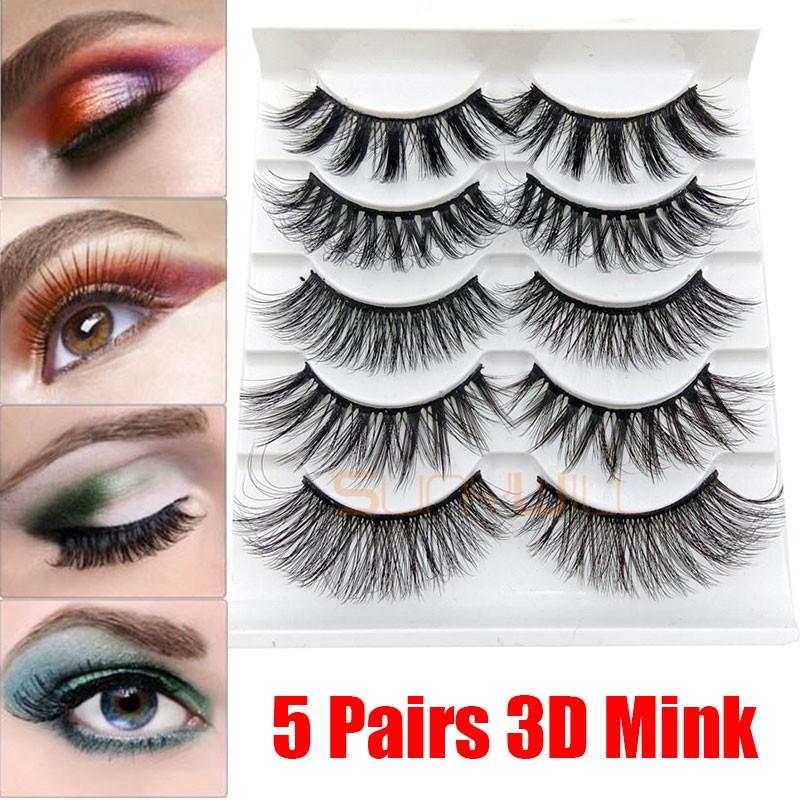 e03b80a0bce Factory direct 3D mink hair false eyelashes natural thick and thin eyelashes  5 pairs of mixed cross-border sources | Shopee Malaysia