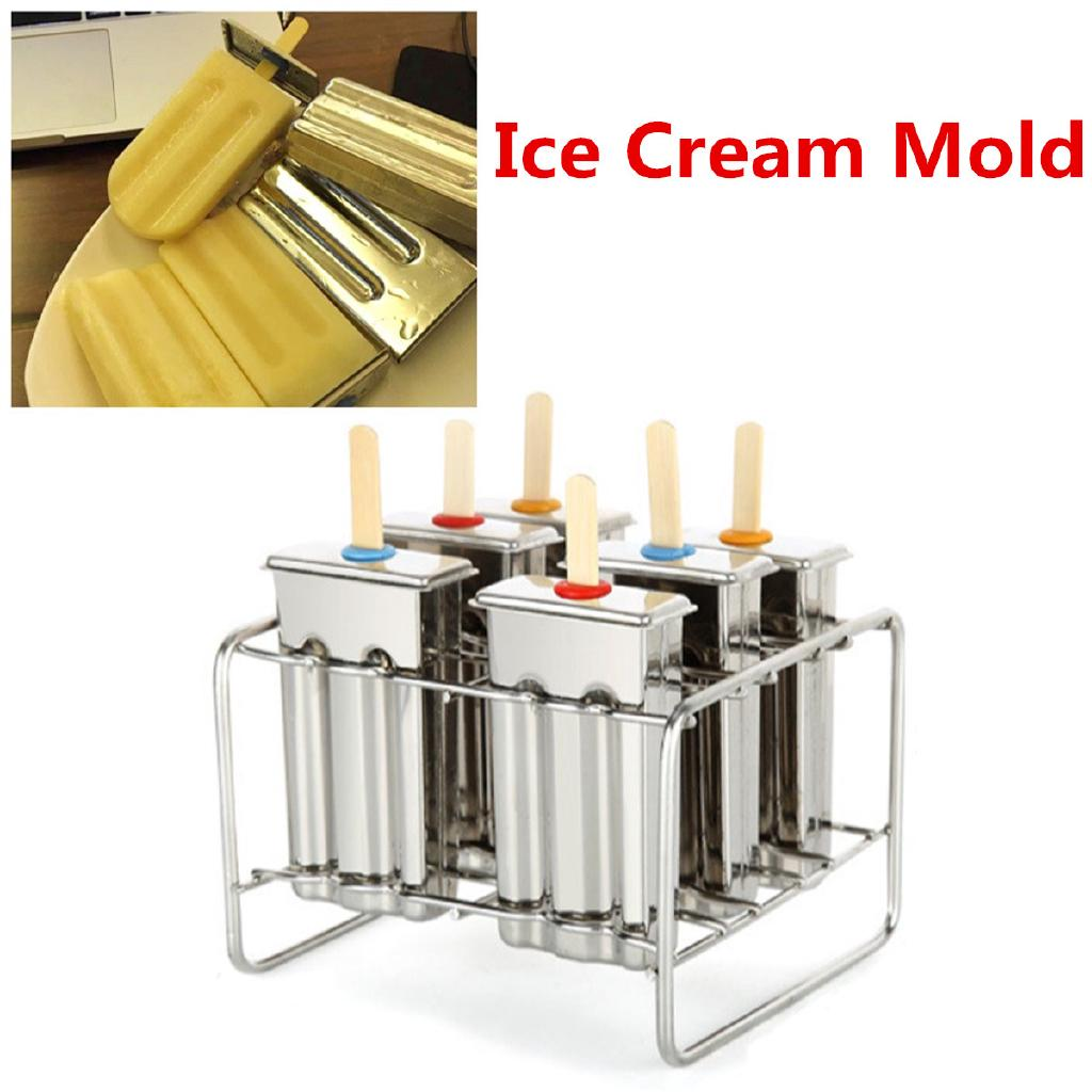 Stainless Steel Frozen Ice Cream Maker Mold Form Mould Stick