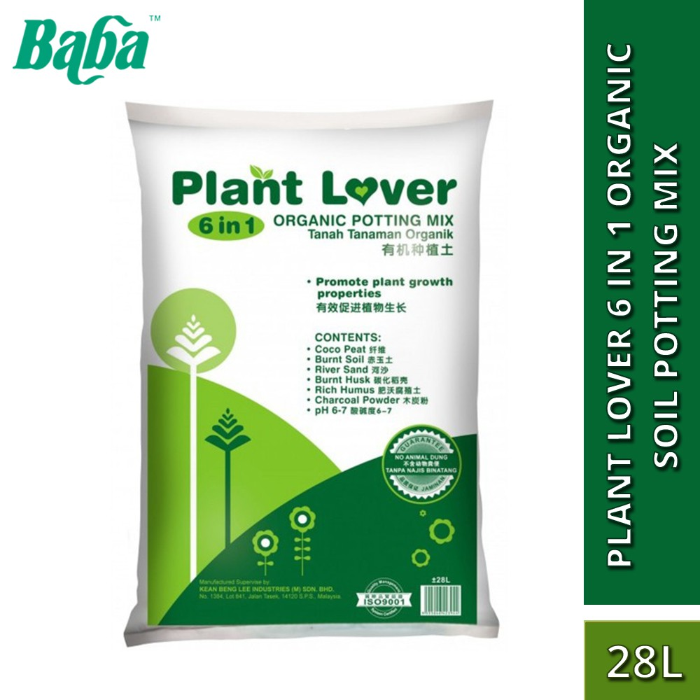 Baba Smart Grow Plant Lover 6 in 1 Organic Soil Potting Mix 28L