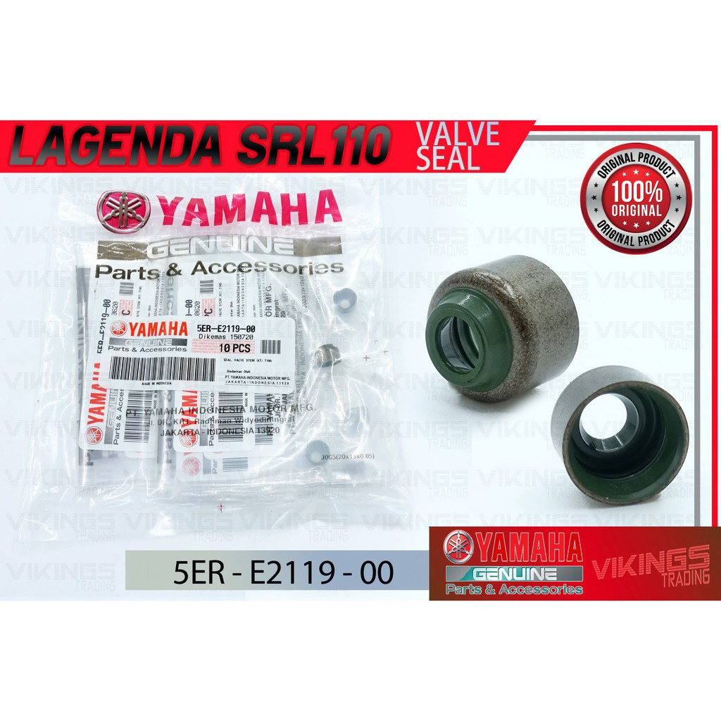 SRL110 SRE LAGENDA ORI YAMAHA VALVE SEAL VALVE STEM (1PCS)