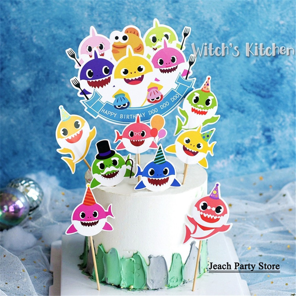 Enjoyable Sea Animals Cupcake Toppers Cake Birthday Cake Decorating Kids Funny Birthday Cards Online Unhofree Goldxyz