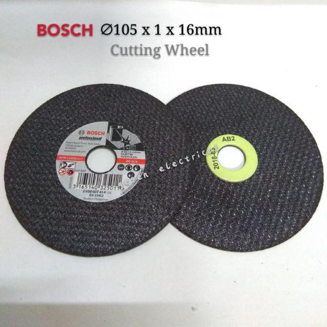 "BOSCH 4"" Metal Cutting Wheel SA 60 T BF 105x1x16mm (25pcs/Box)"