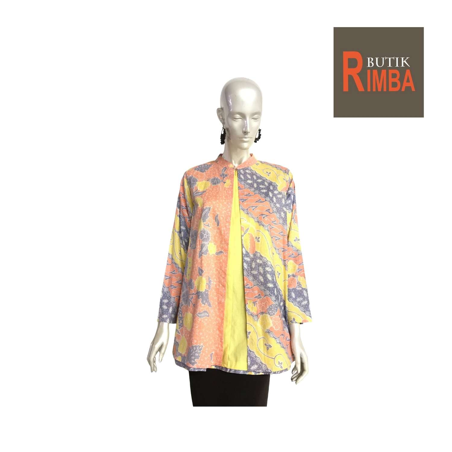 PLUS SIZE BATIK TOP LONG SLEEVE FOR WOMEN WITH VIBRANT COLORS, EXCLUSIVE DESIGNS TRENDY AND COMFY