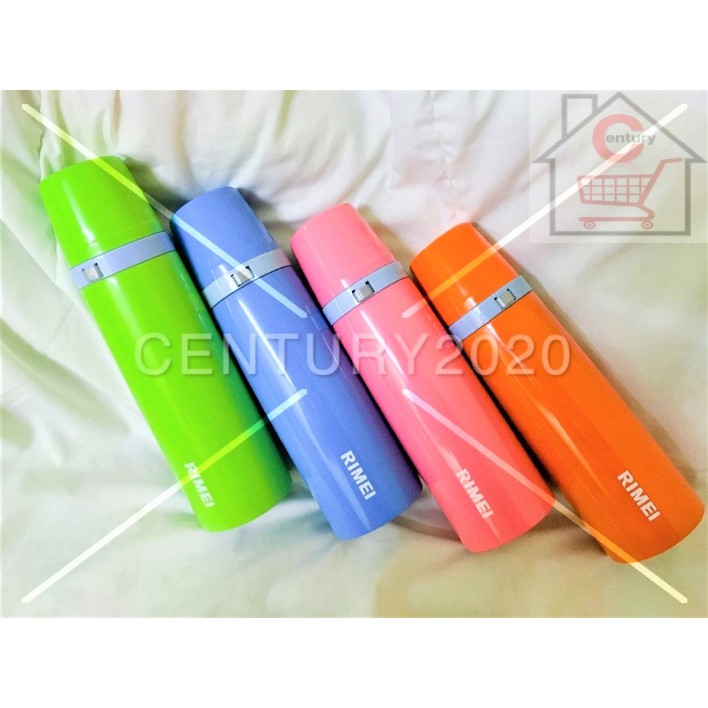 RIMEI Thermal Water Bottle for Hot & Cold Drinks Stainless Steel Vacuum Insulated 500ML Thermos Water Flasks Bottle