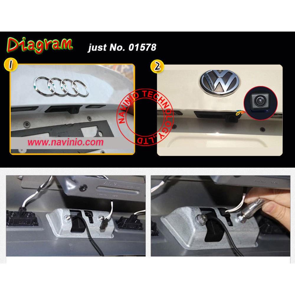 Car Rear View Camera Trunk Handle For VW Skoda Rapid Octavia Fabia Sharan Lavida