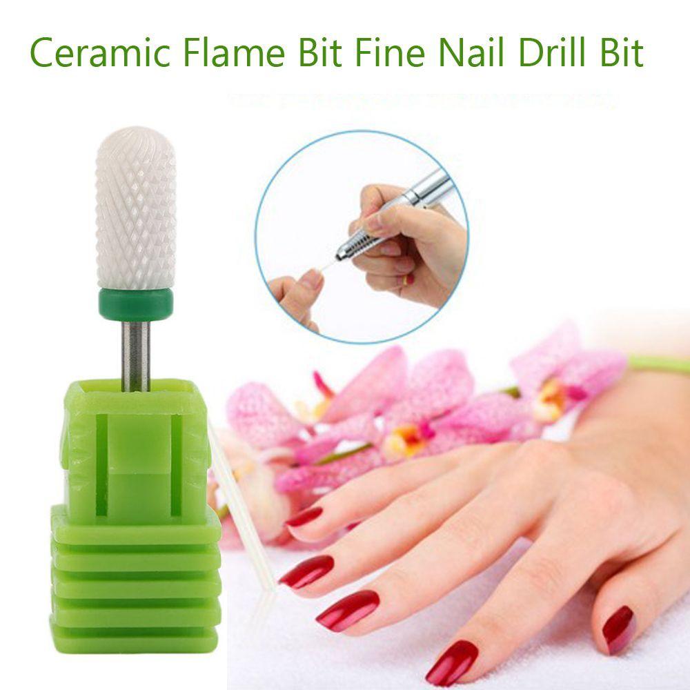 Pro Flame Bit 3/32'' Shank Medium White Zirconia Ceramic Burs Nail Drill
