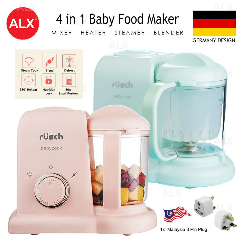 Alx Germany Rusch 4 In 1 Baby Food Maker Mixer Heater Steamer Blender Babycook