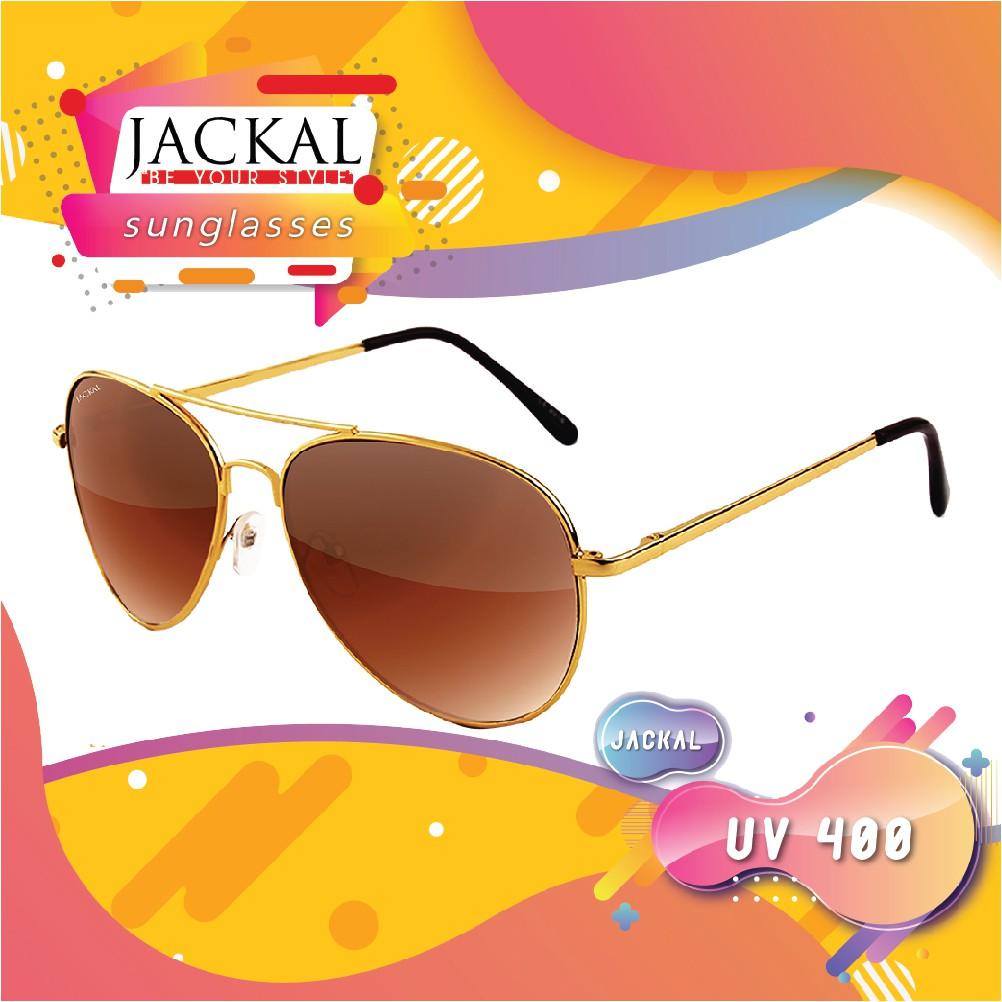 JACKAL SUNGLASSESรุ่น SHIPMASTER I  JS030  ( Gold Frame / Gradient Brown Lens) (พร้อม ผ้าเช็ดแว่นและกล่อง