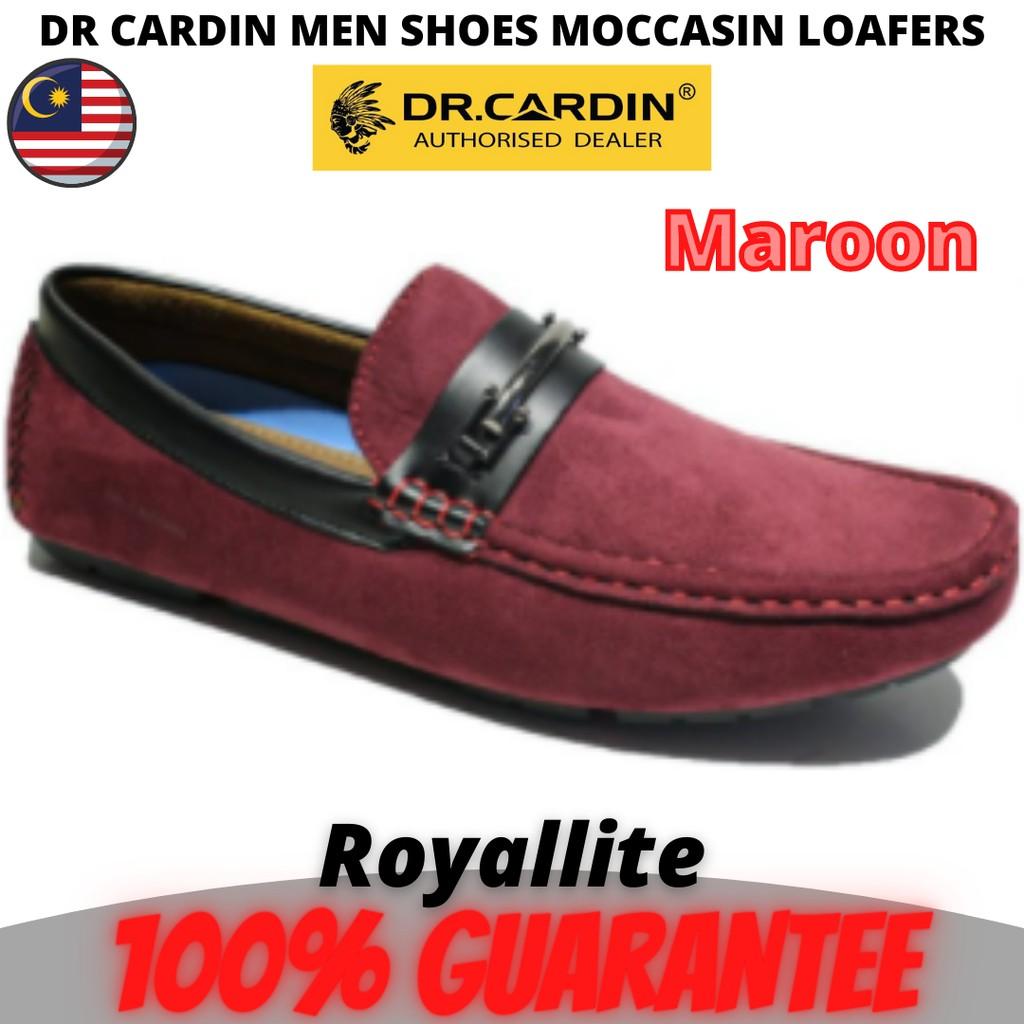DR CARDIN MEN Shoe Slip-on Loafer (60672) Maroon & Navy