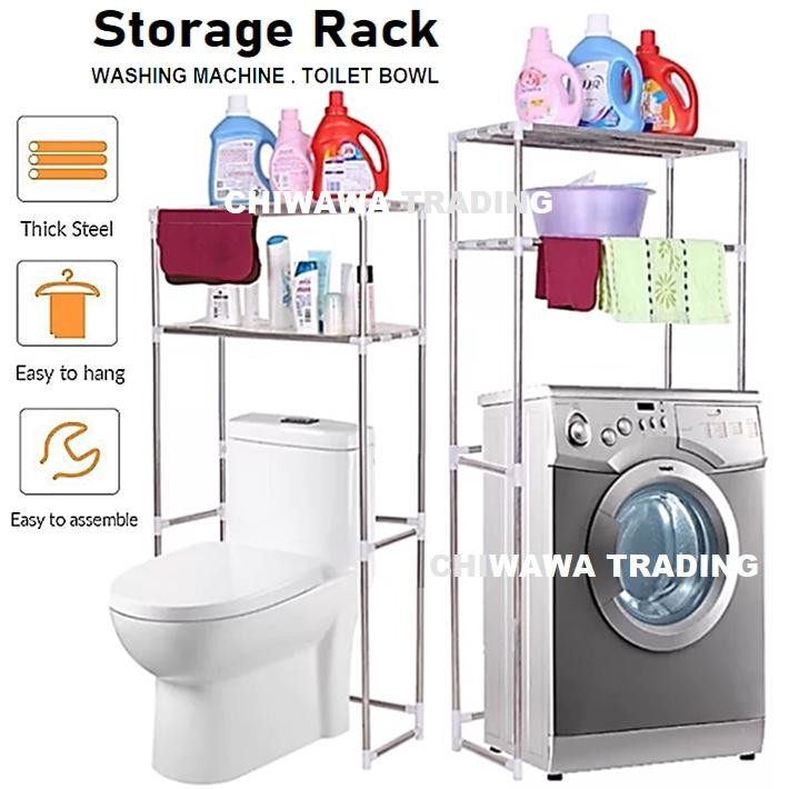 2 Tier Layer Washing Machine Rack Kitchen Laundry Living Bathroom Toilet Organizer Storage Shelf Rak Mesin Basuh Tandas