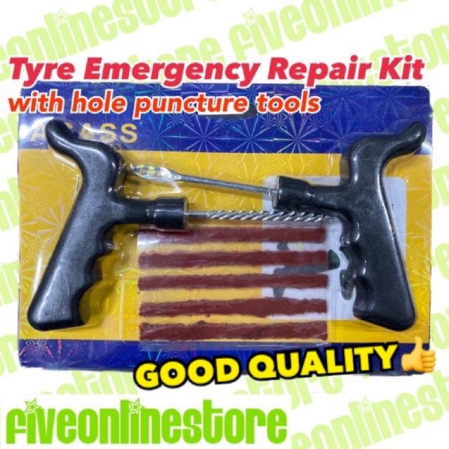7Pcs Tyre Repair Set Car Breakdown Kit Vulcanizing Units Strip Motorcycle Repair Kit