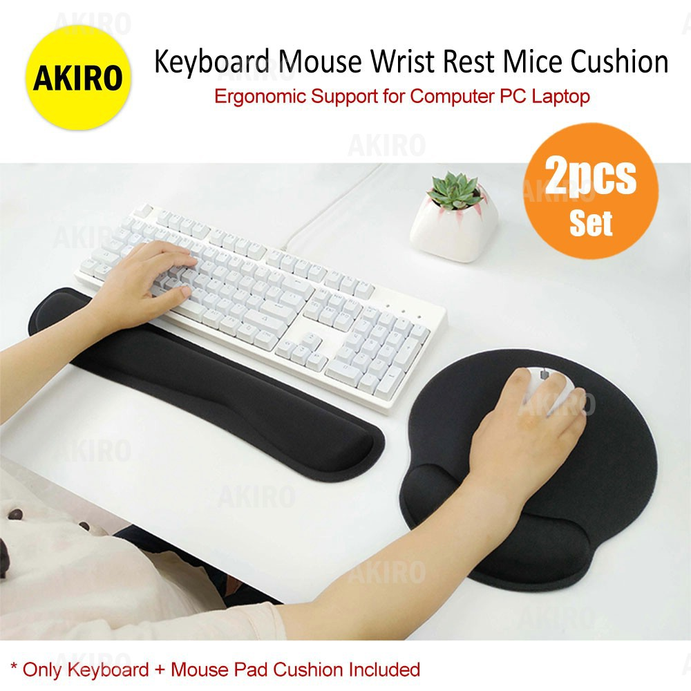 Wrist Rest Mouse Pad Gaming Mat Memory Foam Keyboard Pillow Soft Non Slip
