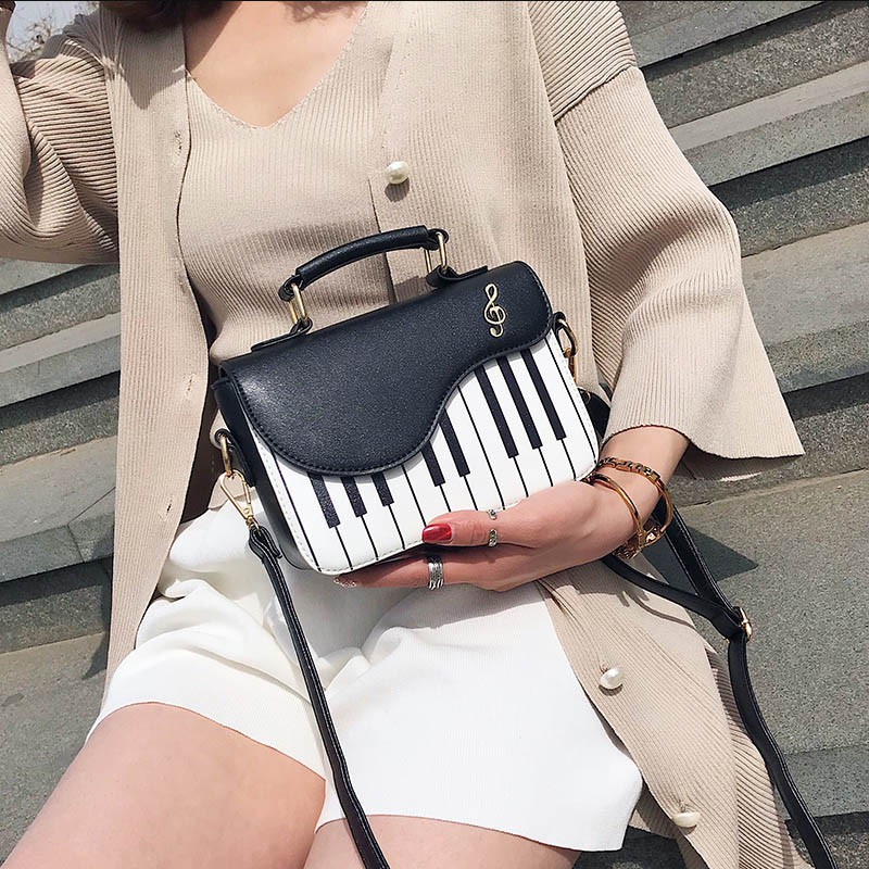 7d1d45e1d49a Soomile New Fashion Piano Pattern Pu Leather Women's Flap Casual Ladies  Handbag