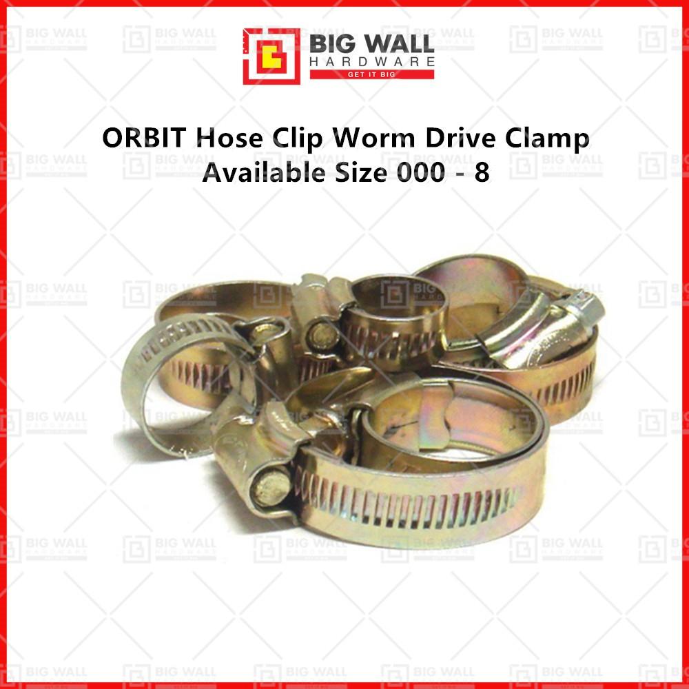 ORBIT Hose Clip Worm Drive Clamp Size 000 - 8 Klip Getah Paip (Big Wall Hardware)