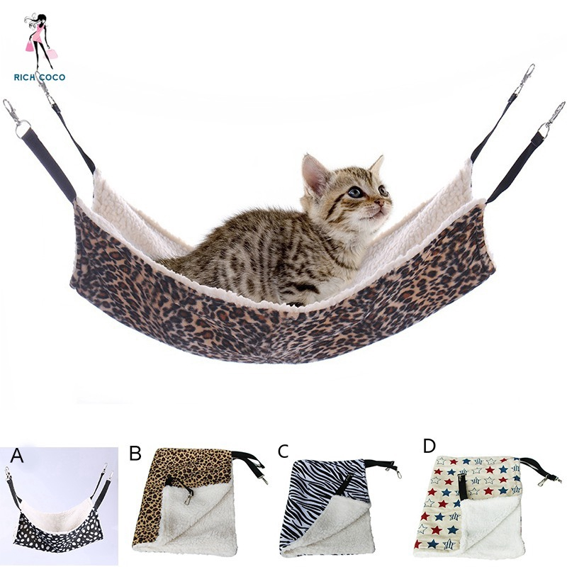 Radient Warm Confortable Cotton And Linen Hanging Cat Bed Mat Soft Cat Puppy Hammock Winter Hammock Pet Kitten Cage Bed Cover Cushion Pet Products Cat Supplies