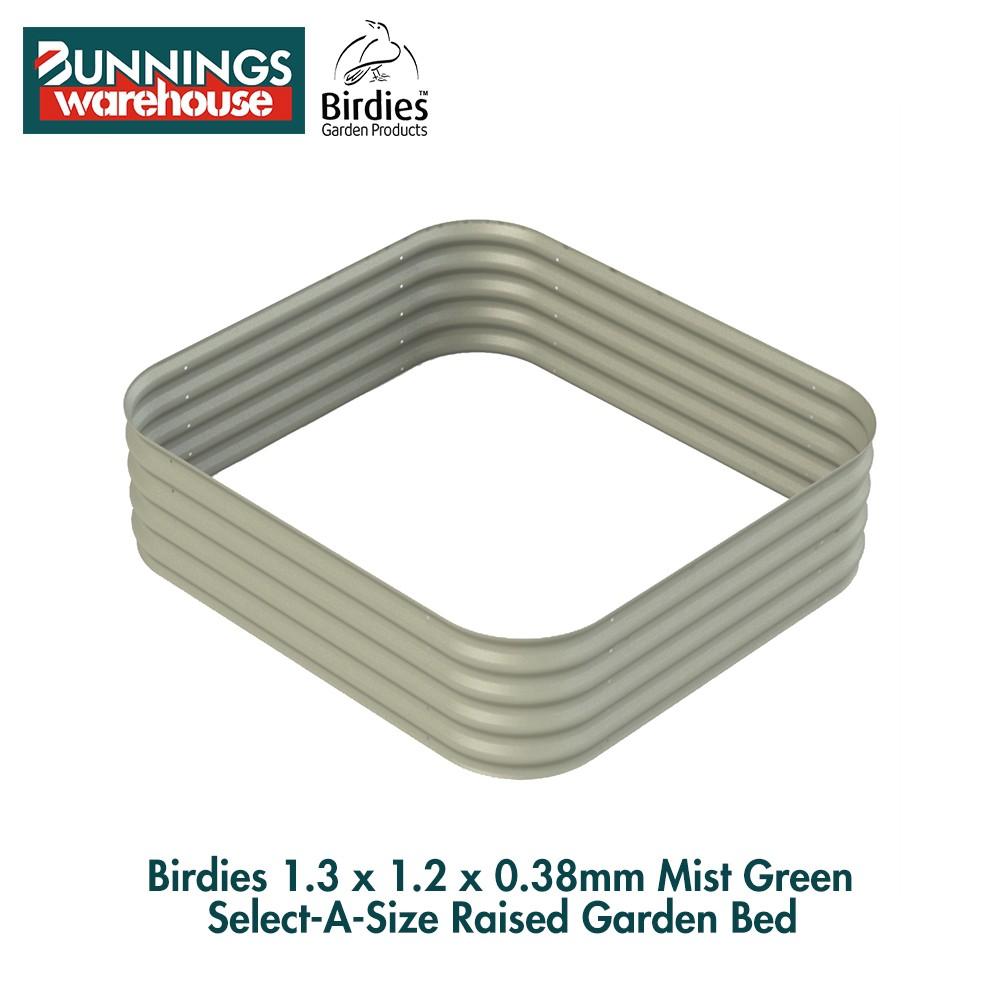 Bunnings Birdies #0135172 1.3 x 1.2 x 0.38m Mist Green Select-A-Size Raised Garden Bed