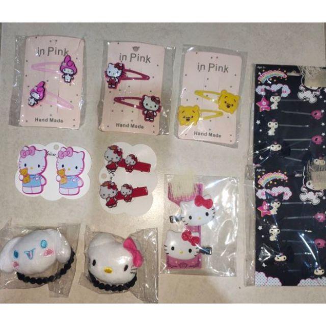 🆕💯✅🥇hello kitty ~jaw hair clip /tictac kitty melody pooh hair clip /kuromi pin /cinamoroll kitty band /kitty 3d l