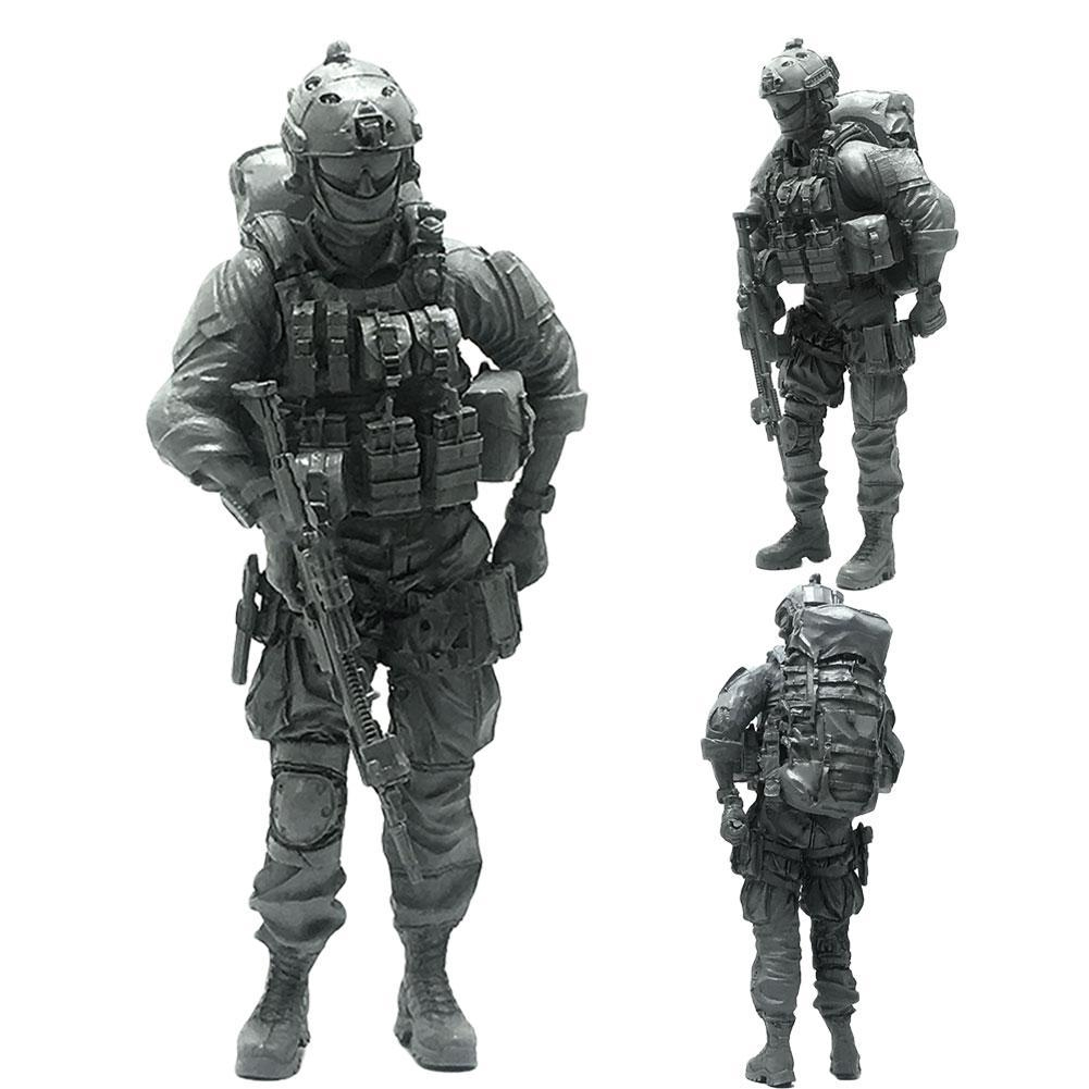 1//35 Sniper Navy Seals Commando Soldier Modern US Special Force Resin DIY Model