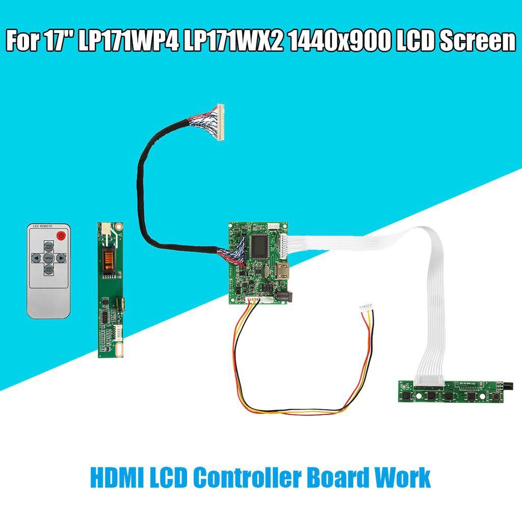 """Mengo ready stock HDMI Remote LCD Controller Driver Board For 17"""" LTN170X2 1440x900 Sc"""
