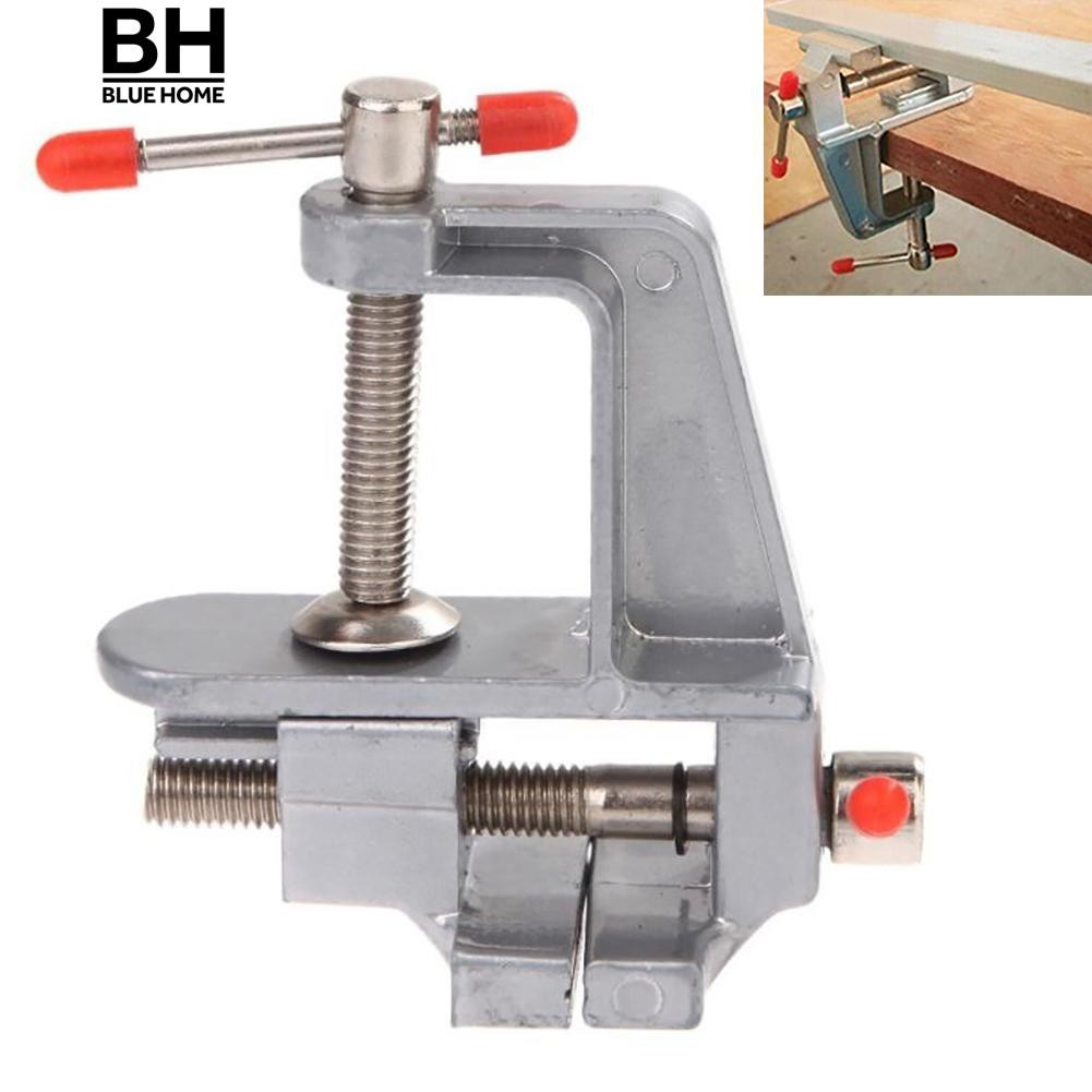 3.5inch aluminum miniature small jewelers hobby clamp on table bench vice  tool
