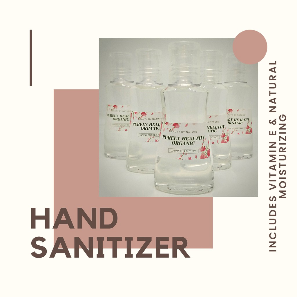 READY STOCK HAND SANITIZER WITH MOISTURIZERS AND VITAMIN E Kills 99.99% Germ Antibacterial 70% Alcohol (60ml)