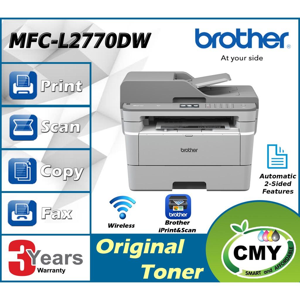 Brother MFC-L2770DW L2770DW Mono Laser Print scan Copy Fax Wifi Dual CIS Scan ADF Wireless Networking Printer