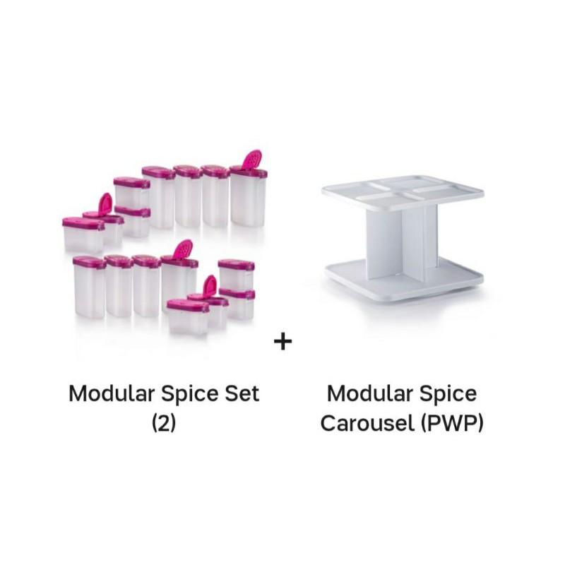 Tupperware - Modular Spice Set (2) + Modular Spice Carousel