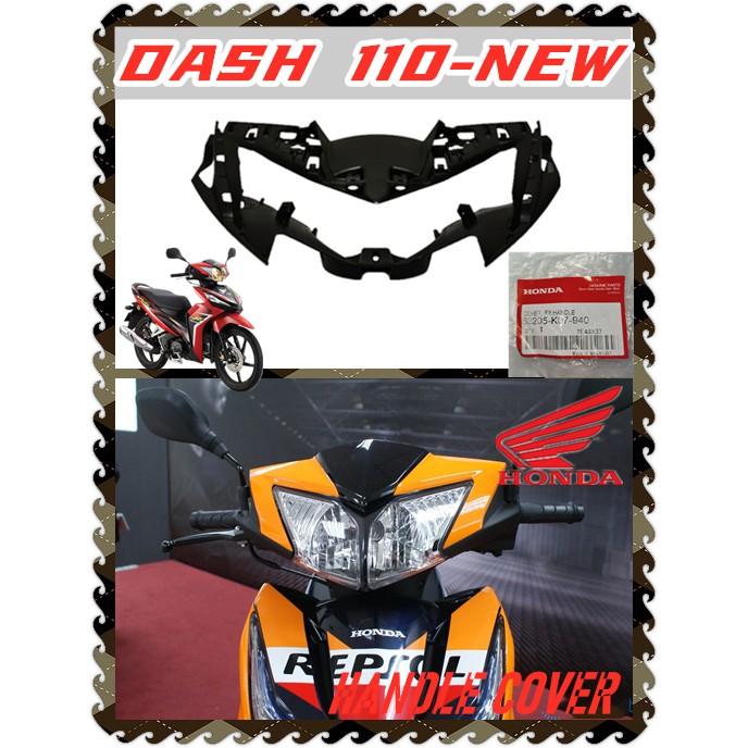 100% ORIGINAL BOONSIEW HONDA WAVE DASH110 DASH 110 DASH NEW DASH 2 HANDLE COVER INNER MATTE BLACK PANEL COVER HEAD LIGHT