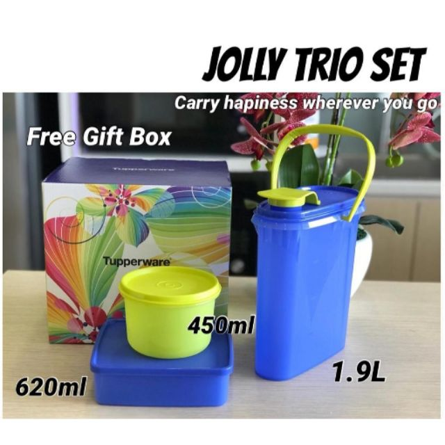 Jolly Trio Set 3 in 1 tupperware with gift box