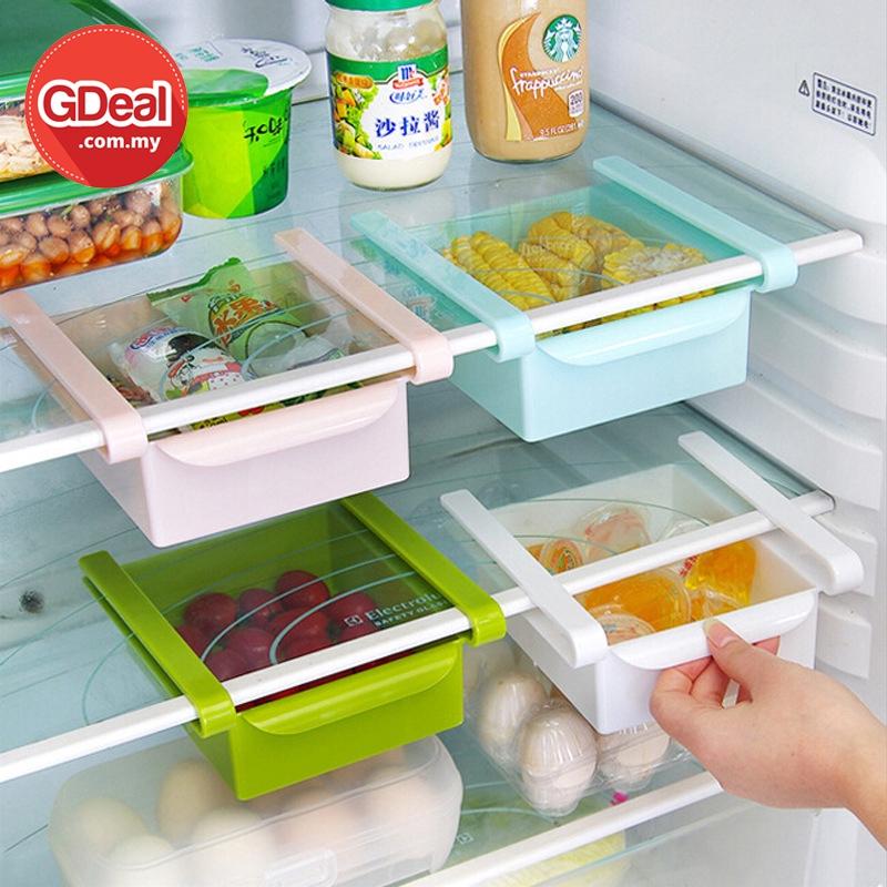 GDeal Slimming Kitchen Pull Out Multi Function Refrigerator Storage Box Kotak Simpanan كوتق سيمڤنن