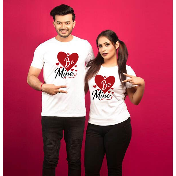 Valentine Day Couple T Shirt Be Mine Couples Love T Shirts Women Men Tshirts Tops Lover Tee Valentine S Day Gift Shopee Malaysia