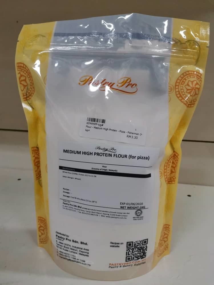FISHERMAN, Medium High Protein Pizza Flour, Halal, 1 kg