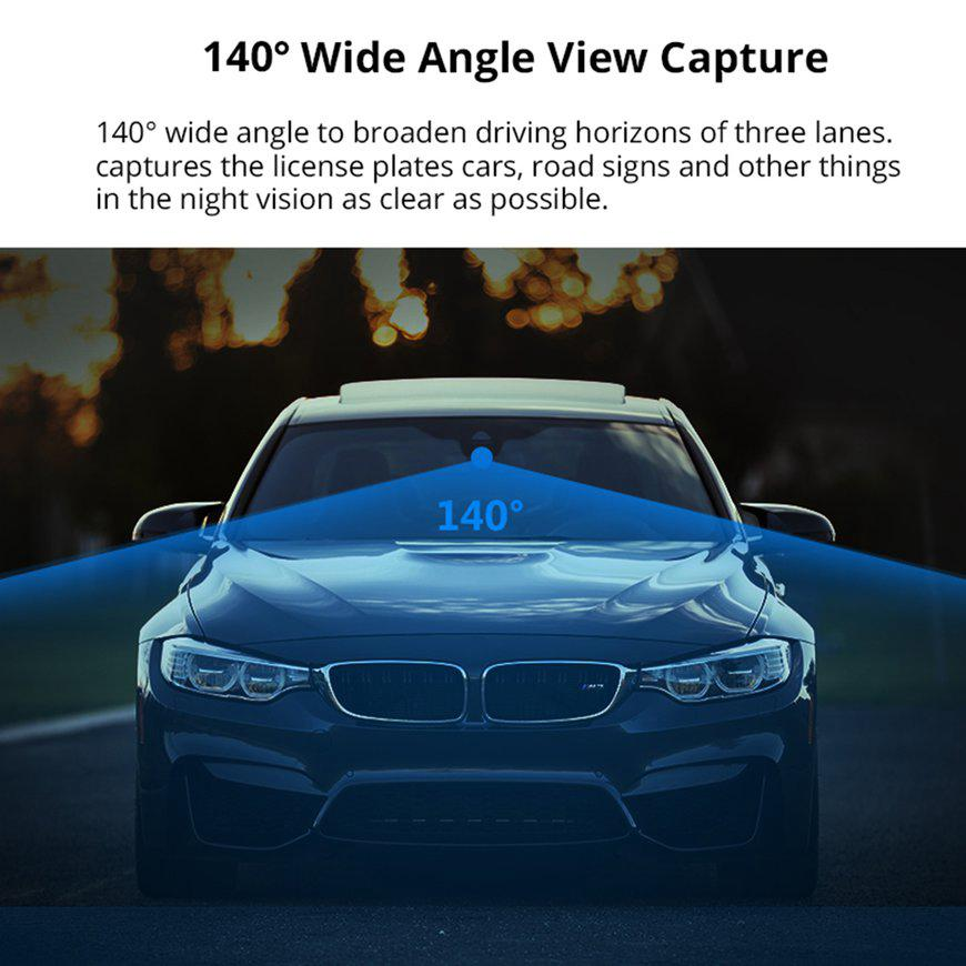 hot#10inch HD 1080P Dual Lens Video Recorder Dash Cam Rearview