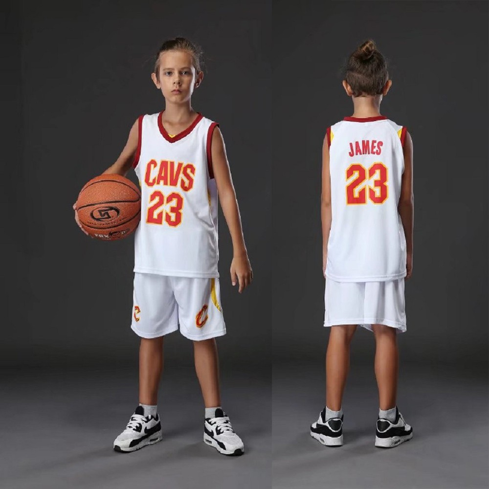 buy online 8f44c b0784 NBA Cleveland Cavaliers #23 James Kids Basketball Jersey Jersi