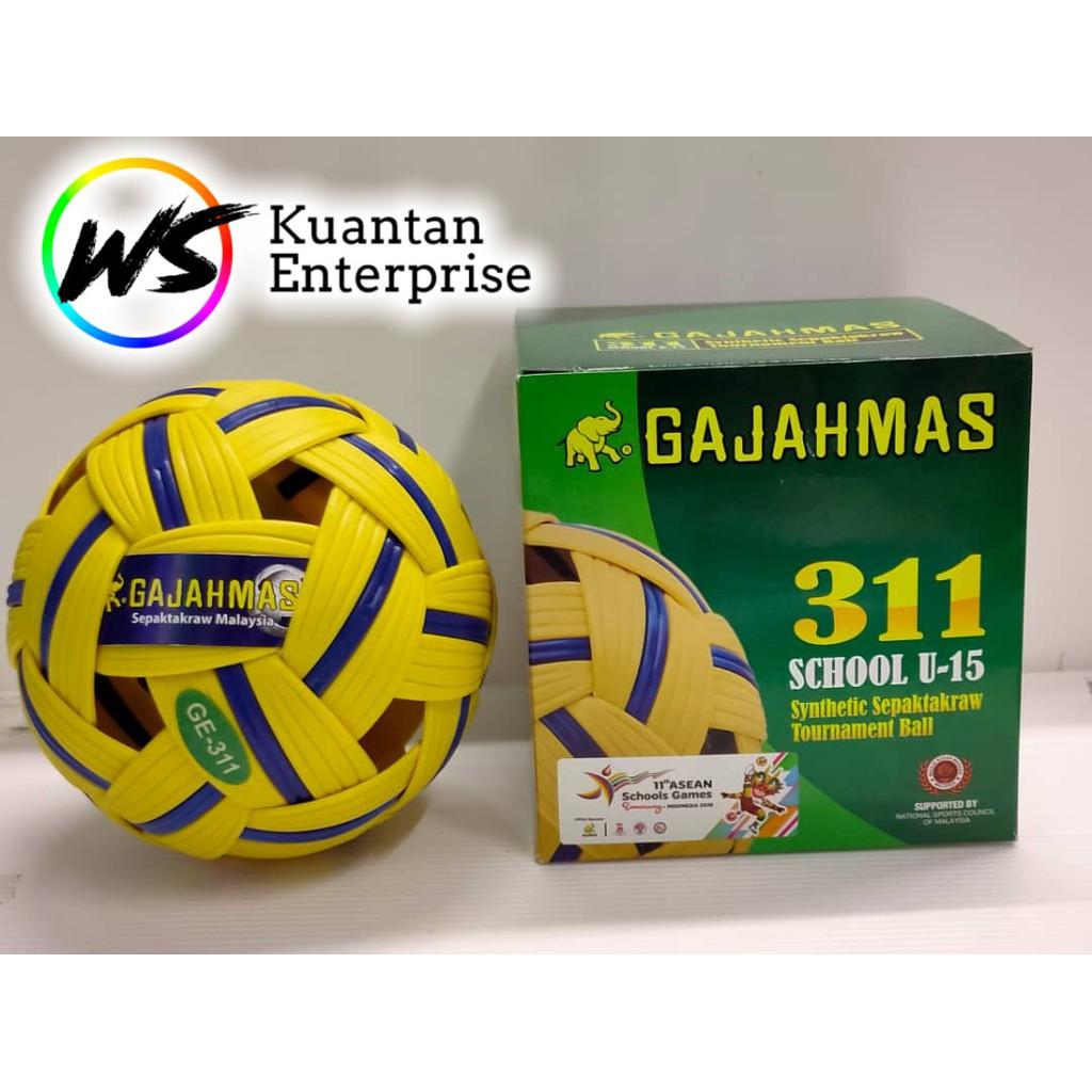 【100% Original】Gajahmas Bola Sepak Takraw GE311/GE411/GE511