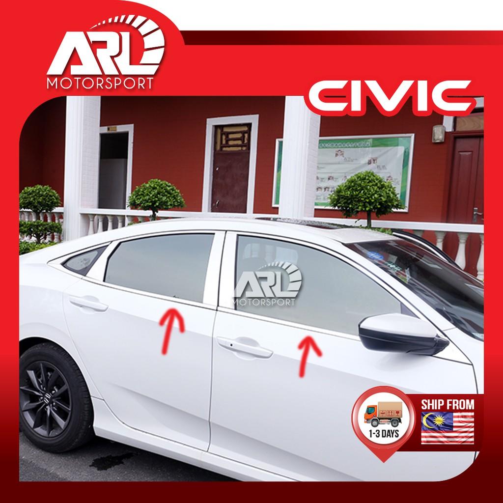 Honda Civic X (2016-2020) FC Car Window Lining Chrome Car Auto Acccessories ARL Motorsport