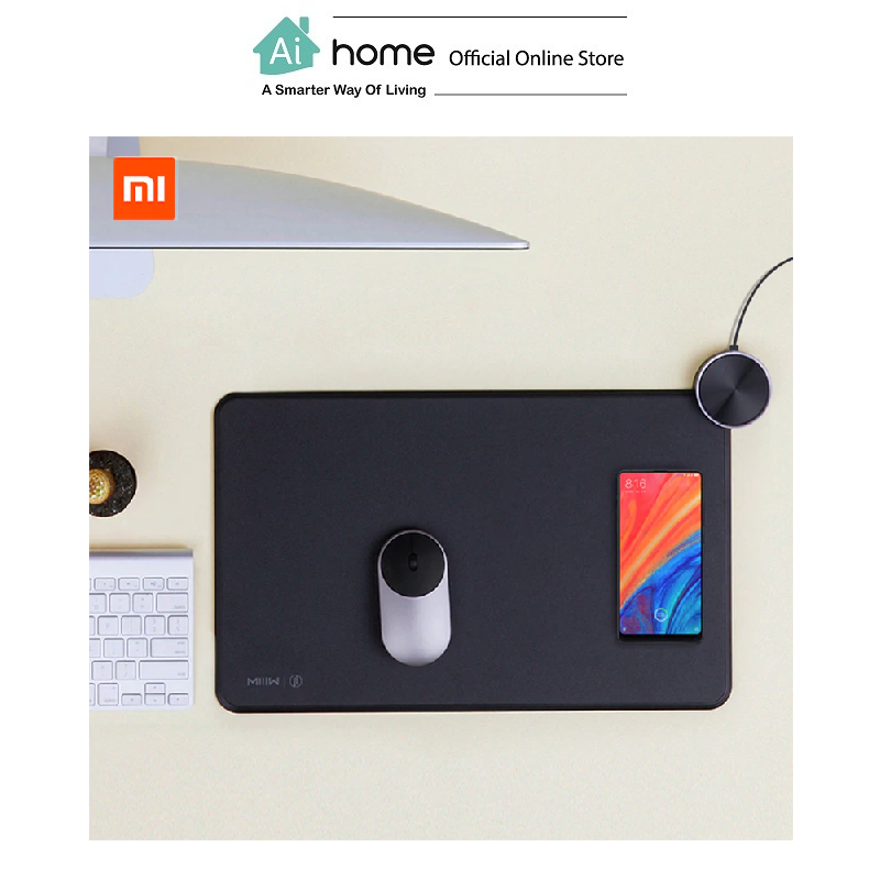 MIIIW Smart Mouse Pad With Wireless Charge (Black) with 1 Year Malaysia Warranty [ Ai Home ]