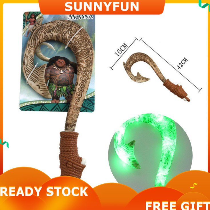 Moana Maui Fish Hook Set Motion Activated Light Sound Toy Pretend Play Prop Gift