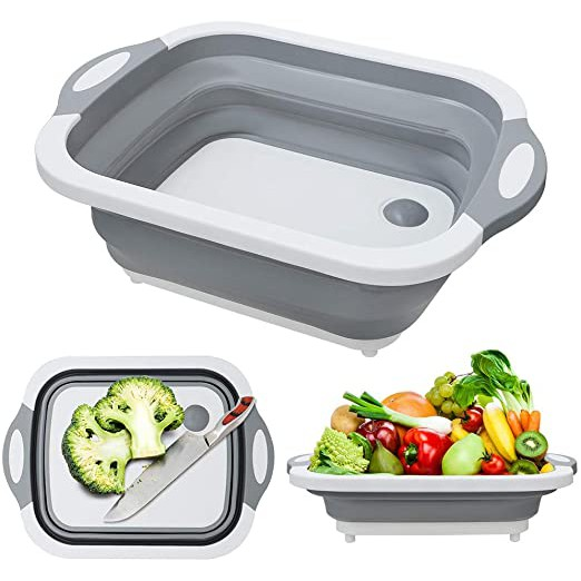 [Ready Stock] Multifunction Foldable Kitchen Cutting Chopboard / Wash Basin 2 in 1 [Fast Delivery]