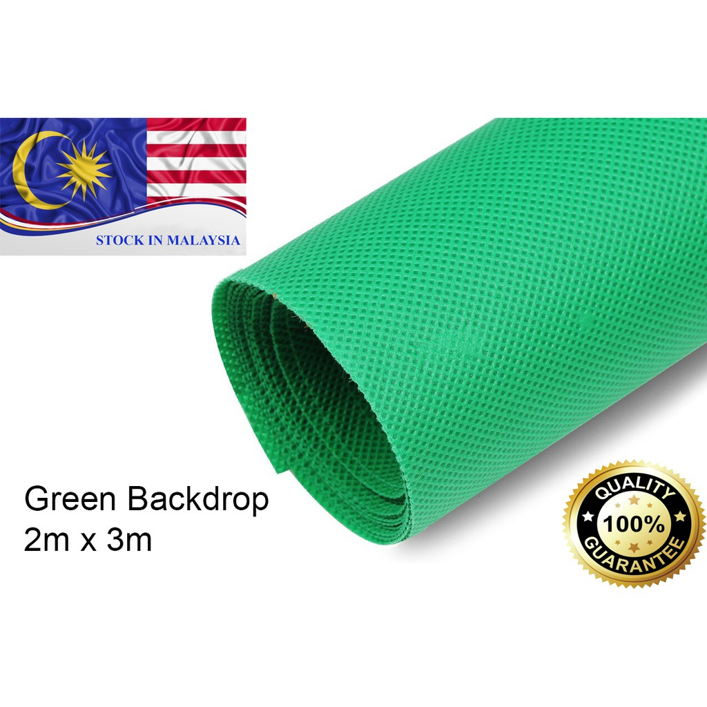 2x3m Green Non-woven Fabric Photo Photography Backdrop Background