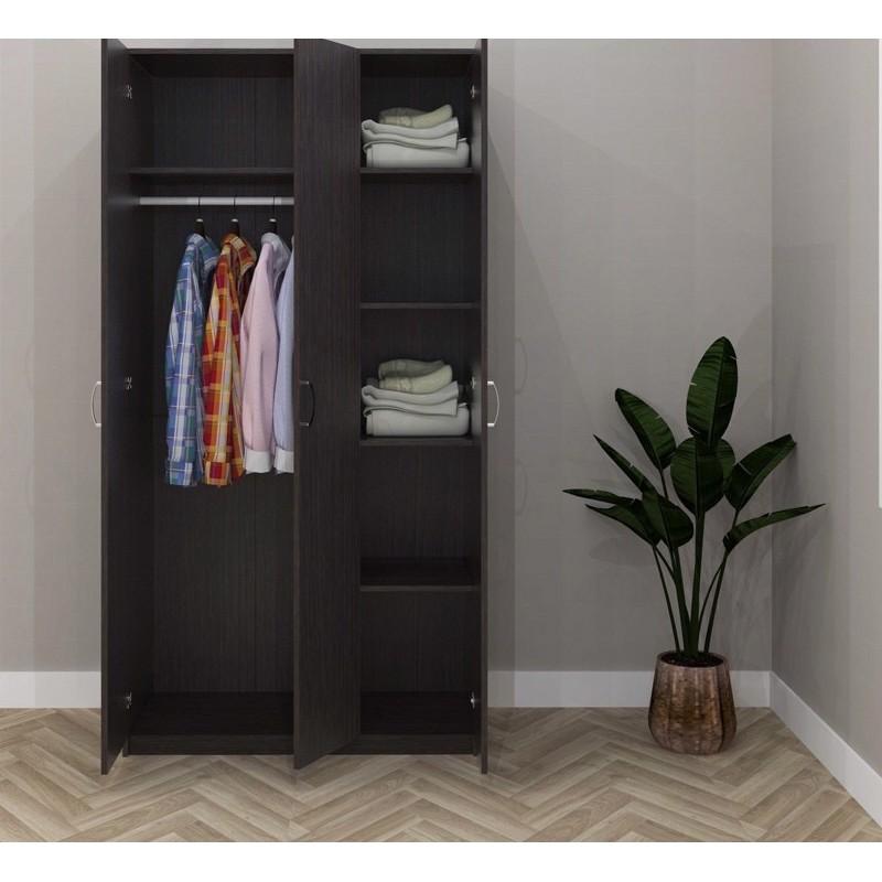 ESCOT 3 DOOR WARDROBE almari dewasa office use -WHITE/WENGE/oak 3 COLOR ESC-9040W