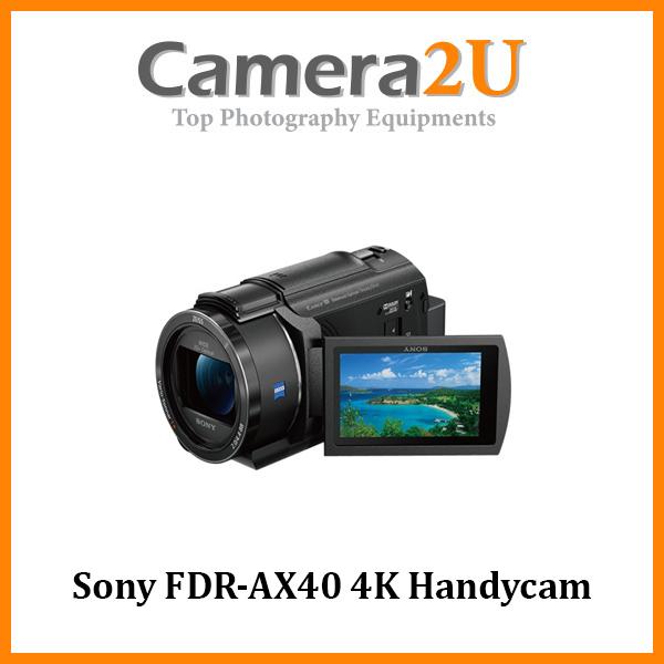 Sony FDR-AX40 4K Handycam Video Camera Camcorder +64GB (Sony MSIA)