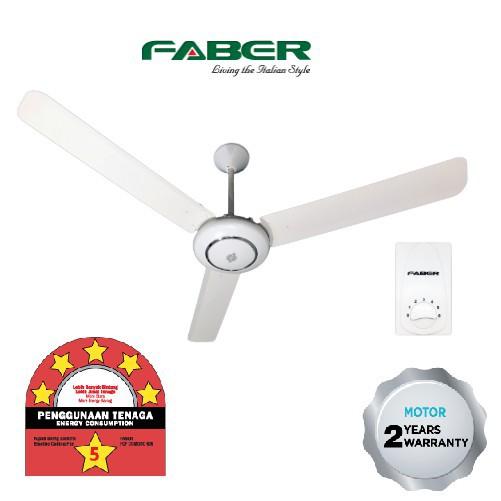 """FCF COMODO 566/FCF COMODO 608 Faber Ceiling Fan 60"""" with 5-Speed Regulator"""