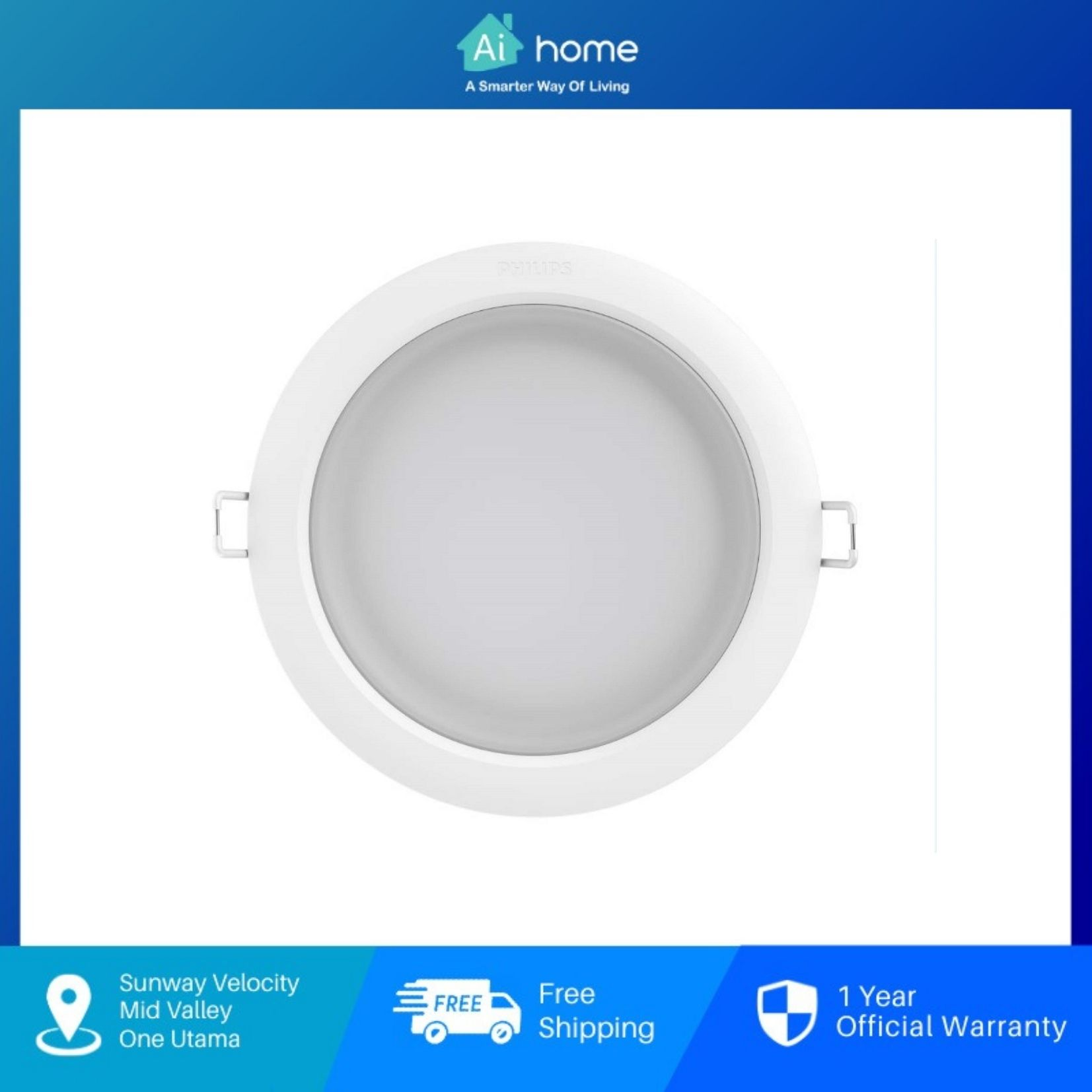 PHILIPS HUE WA DL LED Down light (White) with 2 Year Malaysia Warranty [ Ai Home ]