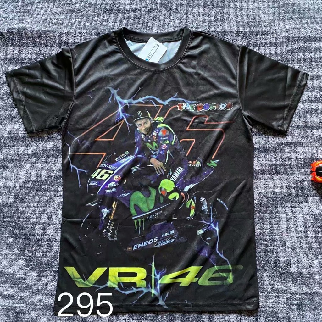 ideal gift for motorbike racer THE NURSE Black T-shirt with Valentino Rossi The Doctor style heat press vinyl decal sticker