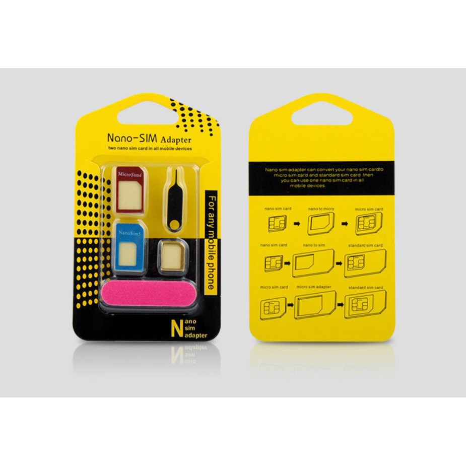 Nano SIM Card To Micro Standard Adapter Converter Set