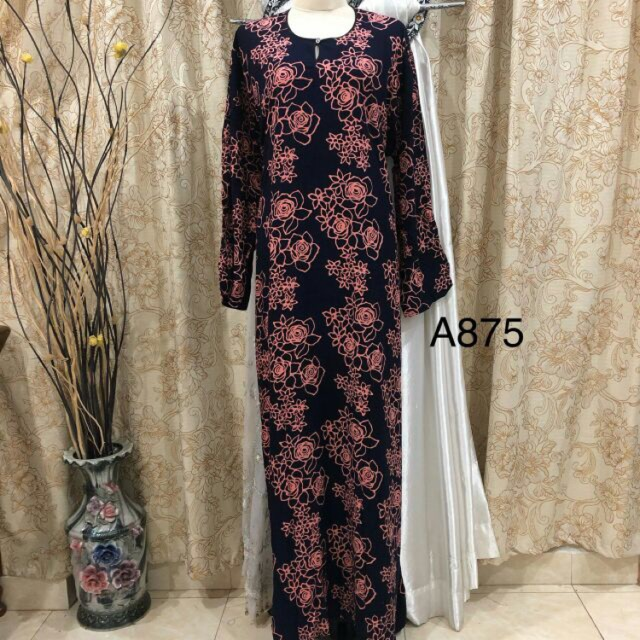 Kaftan / Jubah Batik ( Fit XS To XL)